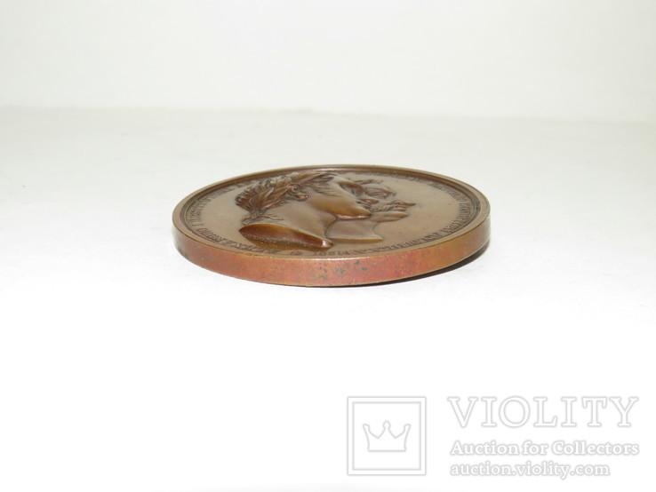 """Настольная медаль 1828 года,"""" В память 250 –летия основания  Виленского университета."""", фото №4"""
