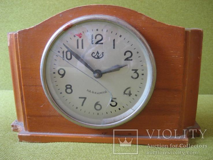 Часы СЧЗ на 4 камня настольные, фото №2