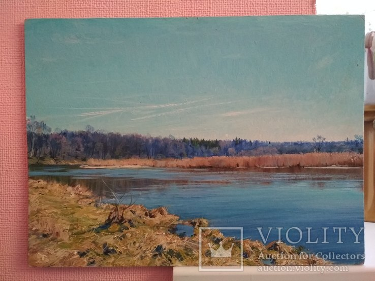 """"""" Река Случь. Осень"""". 2010 г. С. Берестов."""