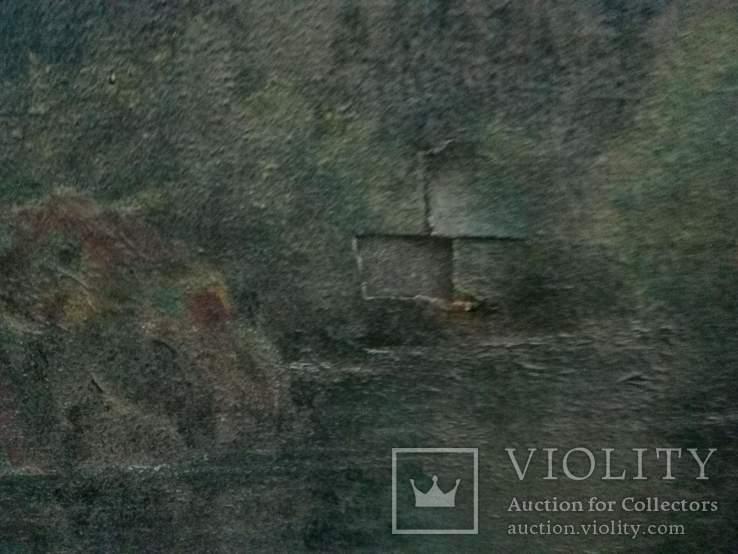 Картина .Горное Озеро *По Щербакову* Копия, фото №12