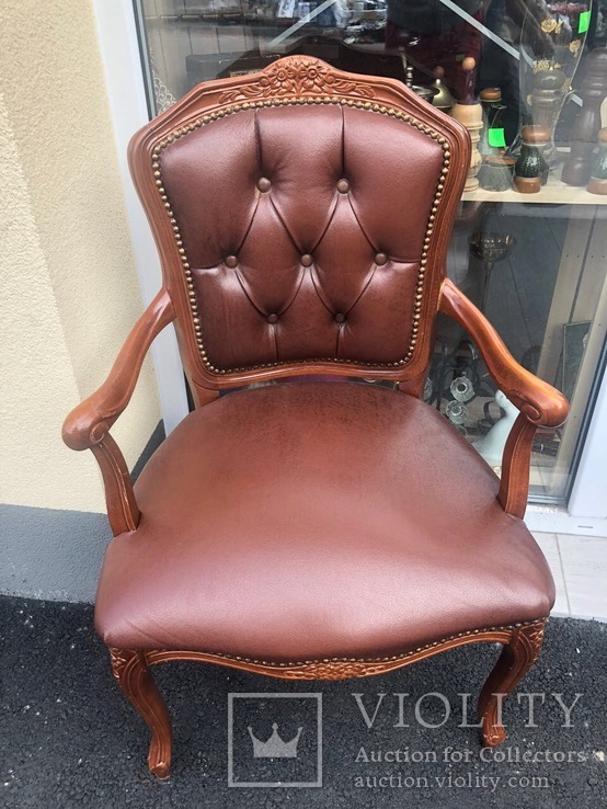 Кресло кожа. Винтаж. Европа