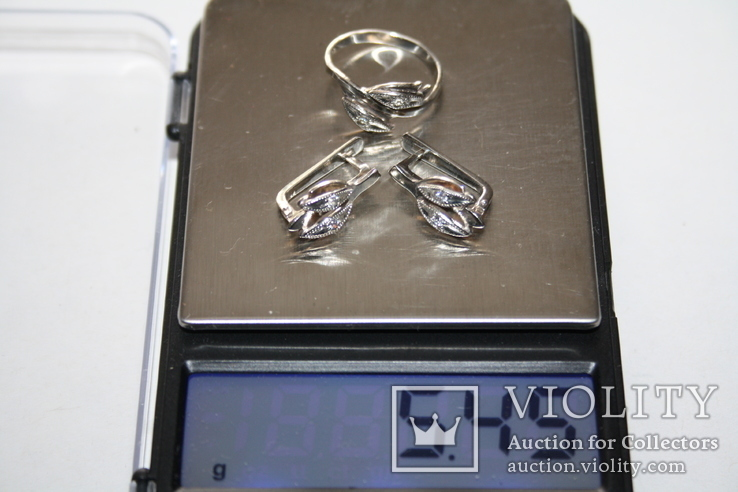 Серебряный набор, серебро 925, фото №11