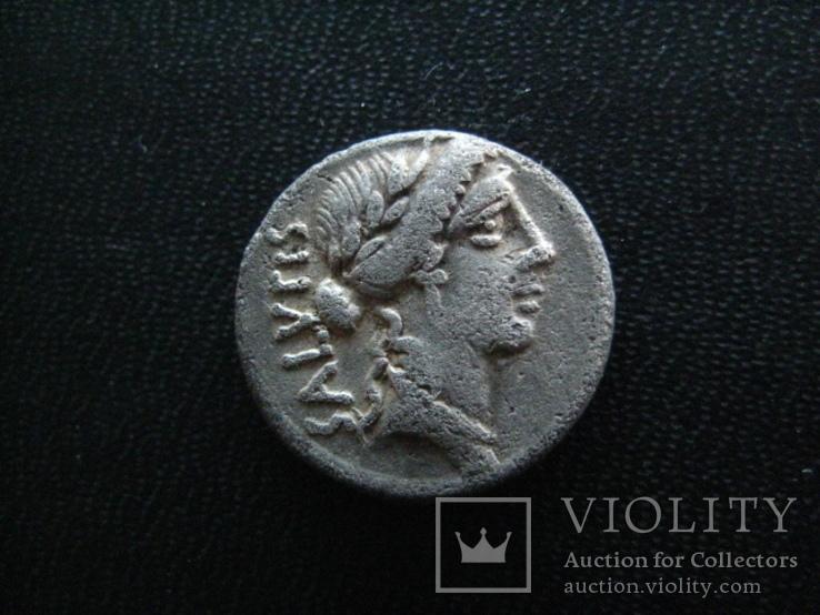 Республиканский денарий Man. Acilius Glabrio, 49 г. до н.э.