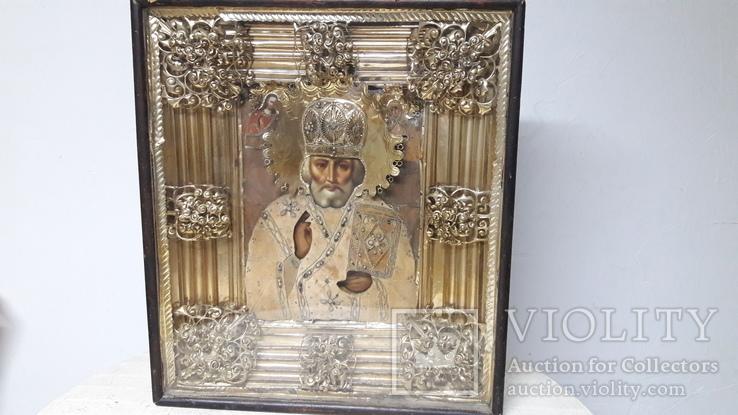 Икона  храмовая Николай Чудотворец 71х62х13