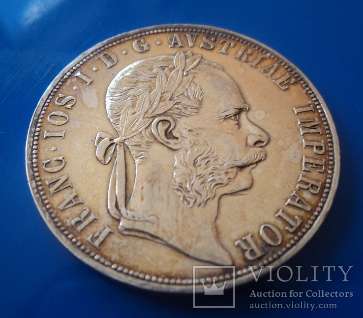 Австро - Венгрия 2 флорина ( гульдена ) 1885 г. серебро AU+