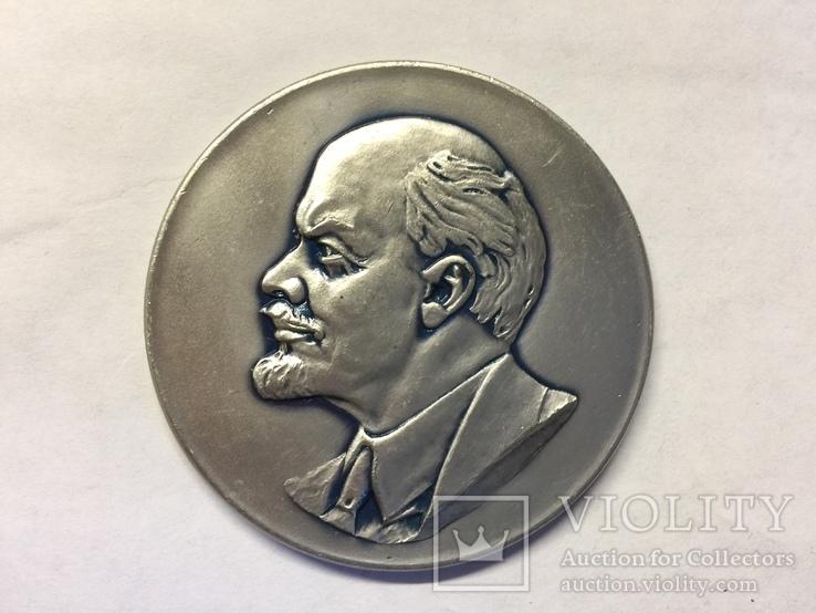 Медаль настольная Делегату X Партконференции 1973 год Минск, фото №2