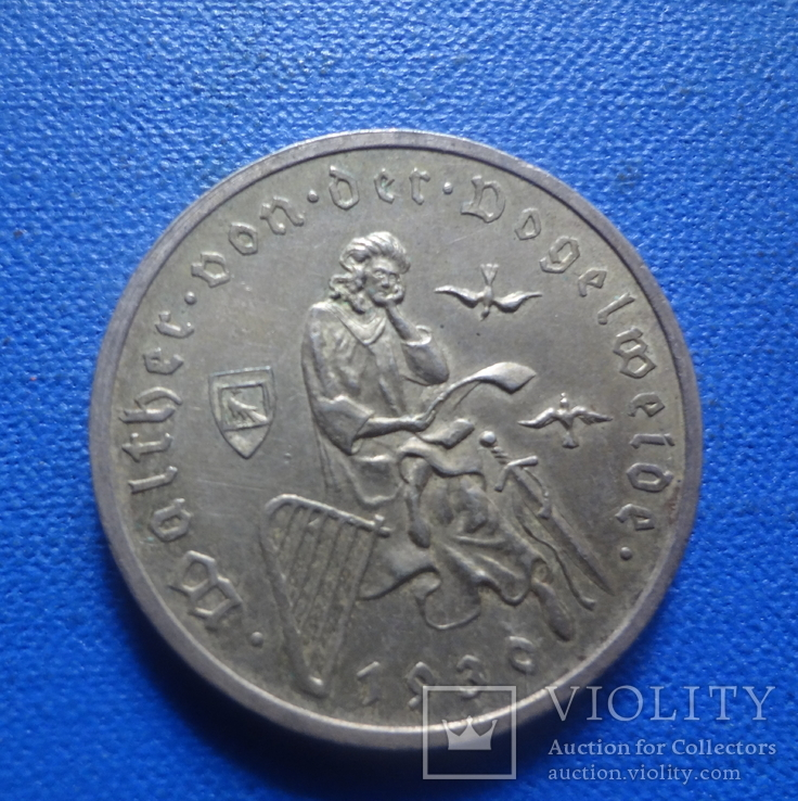 Веймар 3 марки 1930 Вальтер фон Фогельвейде (1.3.15)~