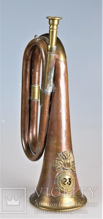 Старая военная Сигнальная Труба Горн Рог Фанфара