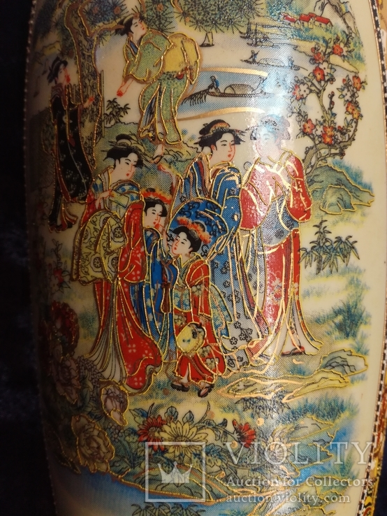 Интерьерная высокая китайская ваза в росписи., фото №7
