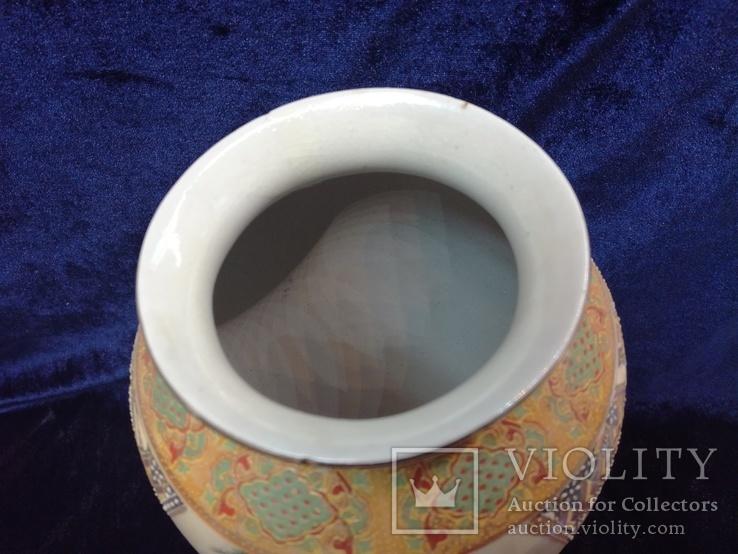 Интерьерная высокая китайская ваза в росписи., фото №9
