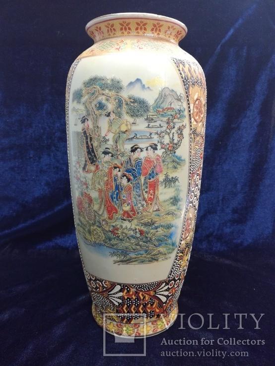 Интерьерная высокая китайская ваза в росписи., фото №2