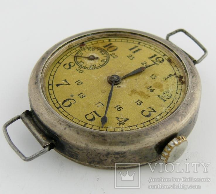 Часы наручные серебро НКОМ 15 камней 1 ГЧЗ им. Кирова Москва СССР 1941 год на ходу