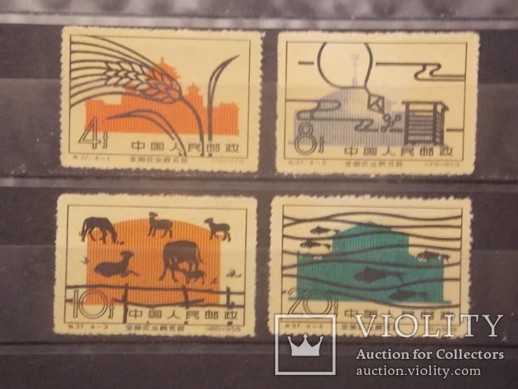 Почтовые марки Китай ,серия 1960 г,чистая