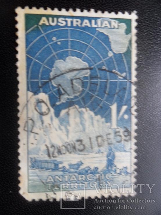 Британское содружество.  Австралийские Антаркт. Территории  марка  гаш