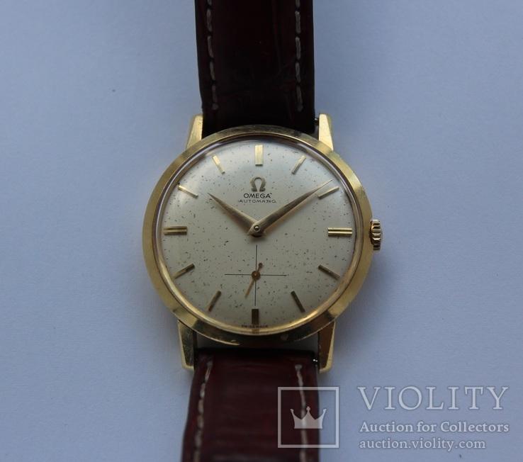 Золотые часы Omega Automatic 34.59 г (подарок официальному поставщику оборудования Омеги)
