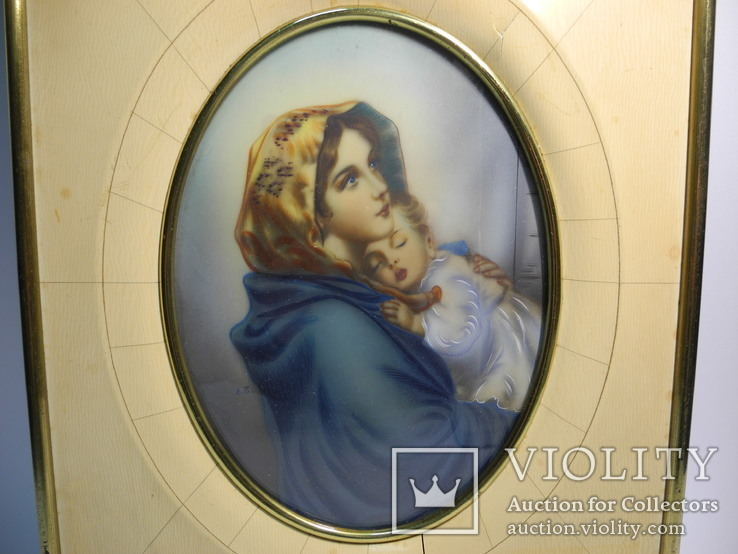 Рисованная картина ( мать с ребенком ) Италия