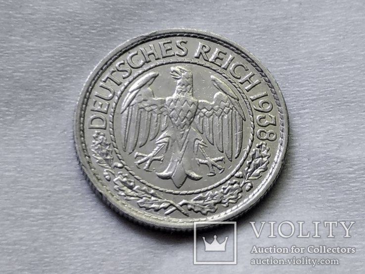50 пфеннигов 1938 E