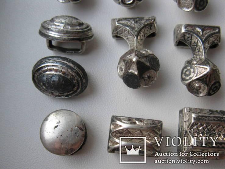 Часть кавказкого ремня  серебро чернение 84 проба 100 грамм, фото №7