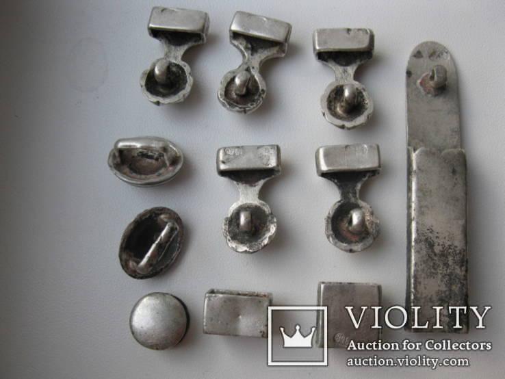 Часть кавказкого ремня  серебро чернение 84 проба 100 грамм, фото №9