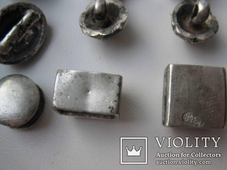 Часть кавказкого ремня  серебро чернение 84 проба 100 грамм, фото №10