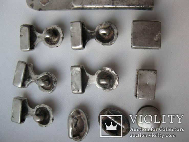 Часть кавказкого ремня  серебро чернение 84 проба 100 грамм, фото №11