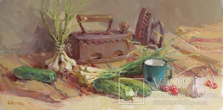 ''Натюрморт з прасками'' полотно.олія 20-40 см. 2018рік