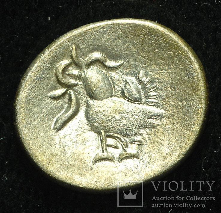 Камбоджа 1 фуанг 1847 серебро