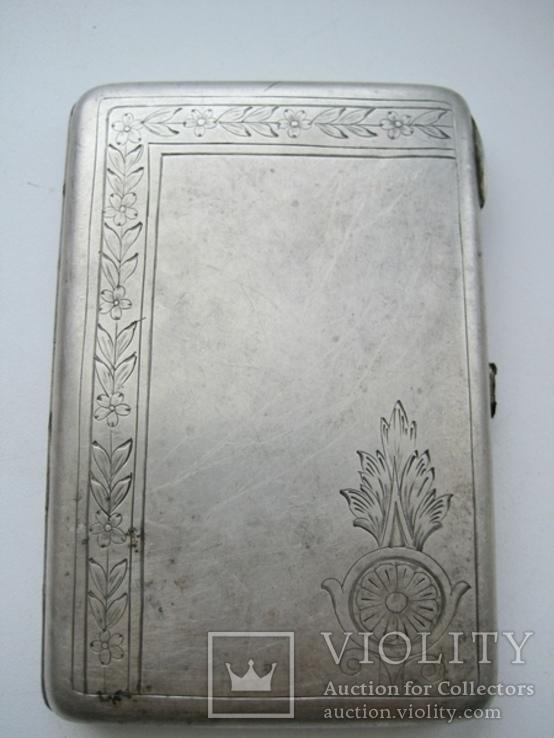 Портсигар серебряный 84 проба