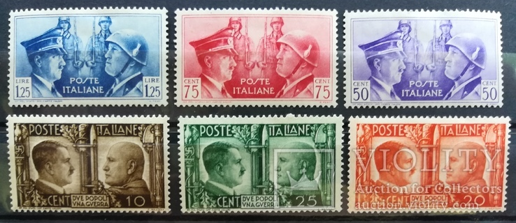 1943 Италия Гитлер и Муссолини полная серия