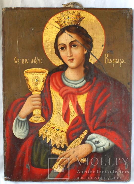 Святая великомученица Варвара  32,5☓24☓2 см.