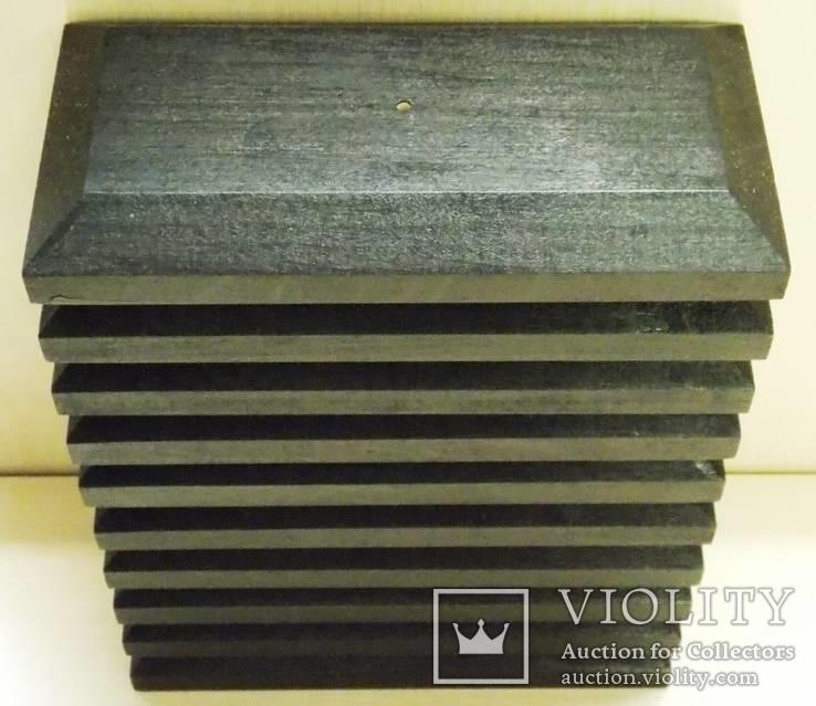 10 шт Подставка для моделей авто масштабом 1:43 Цвет Черный. Материал дерево, фото №3