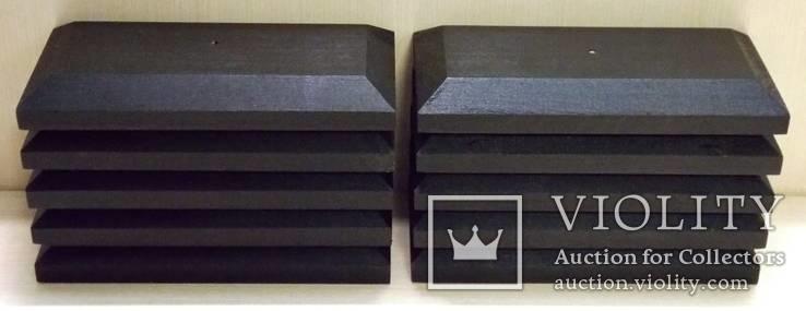 10 шт Подставка для моделей авто масштабом 1:43 Цвет Черный. Материал дерево, фото №6