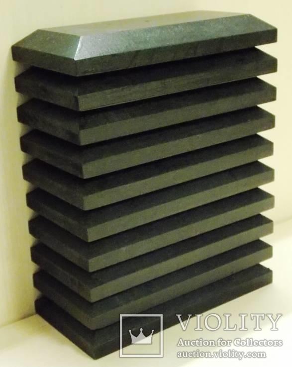 10 шт Подставка для моделей авто масштабом 1:43 Цвет Черный. Материал дерево, фото №7