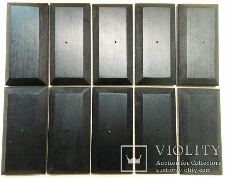 10 шт Подставка для моделей авто масштабом 1:43 Цвет Черный. Материал дерево, фото №8