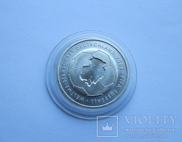 10 евро Футбол ЧМ 2006. Серебро. Германия, фото №6