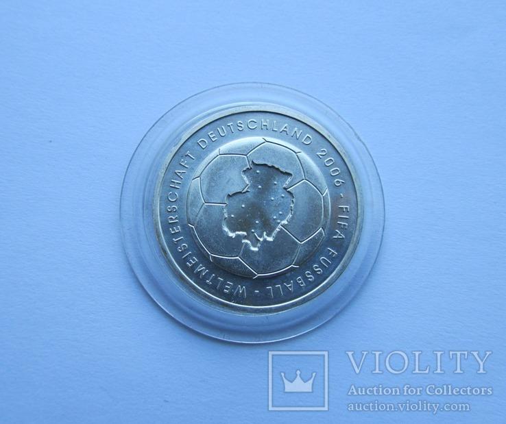 10 евро Футбол ЧМ 2006. Серебро. Германия, фото №7