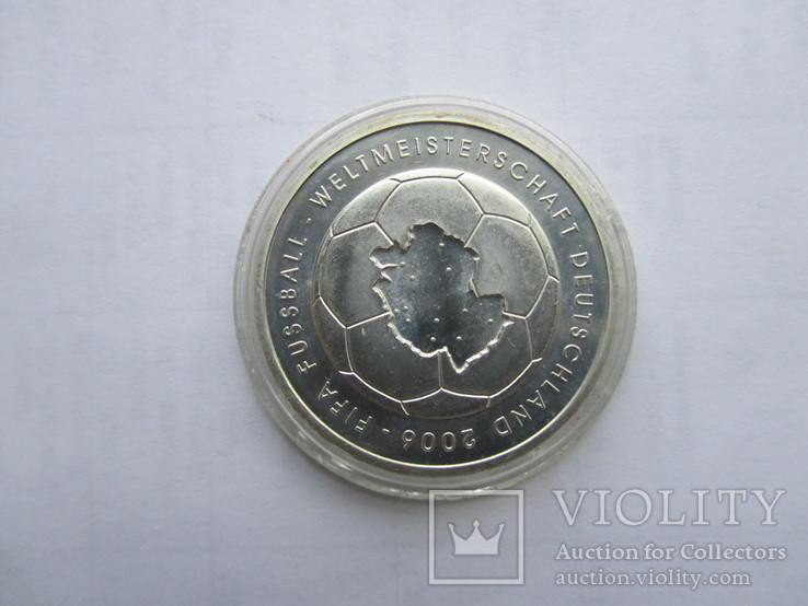 10 евро Футбол ЧМ 2006. Серебро. Германия, фото №9