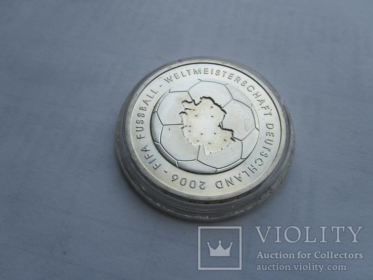 10 евро Футбол ЧМ 2006. Серебро. Германия, фото №10