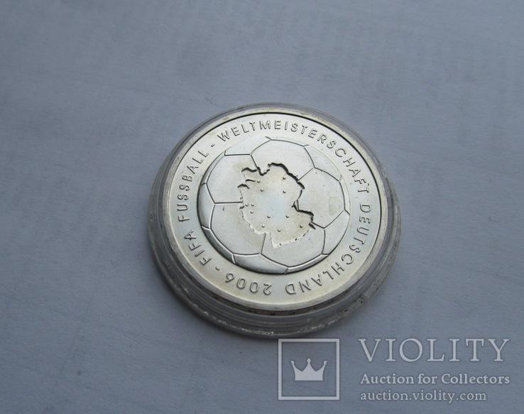 10 евро Футбол ЧМ 2006. Серебро. Германия, фото №11