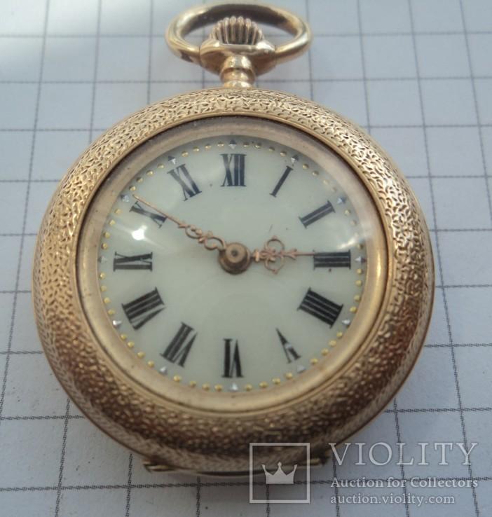 Часы карманные Швейцария 1890 г. золото На ходу