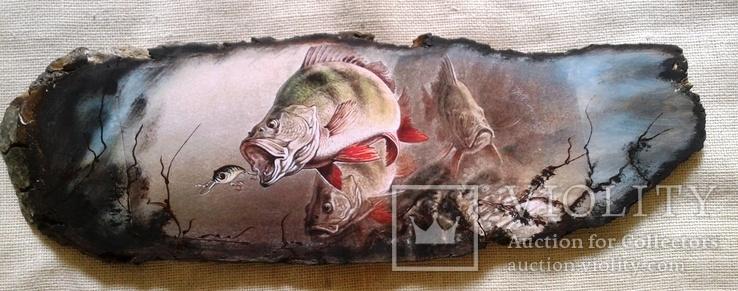 Картинки на срезе дерева