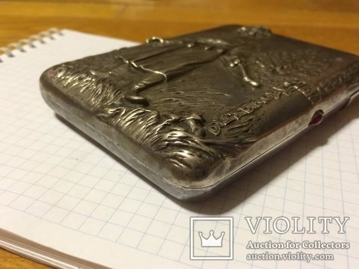 Портсигар серебро 84 Иван Царевич, фото №4