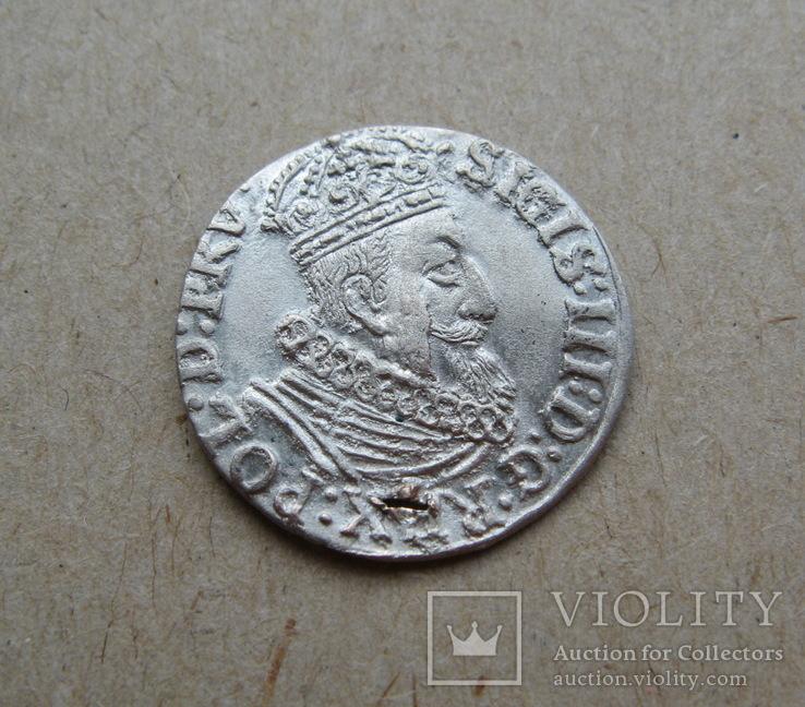 Гданьский грош 1623 года. SB под гербом. Сиг. ІІІ Ваза.