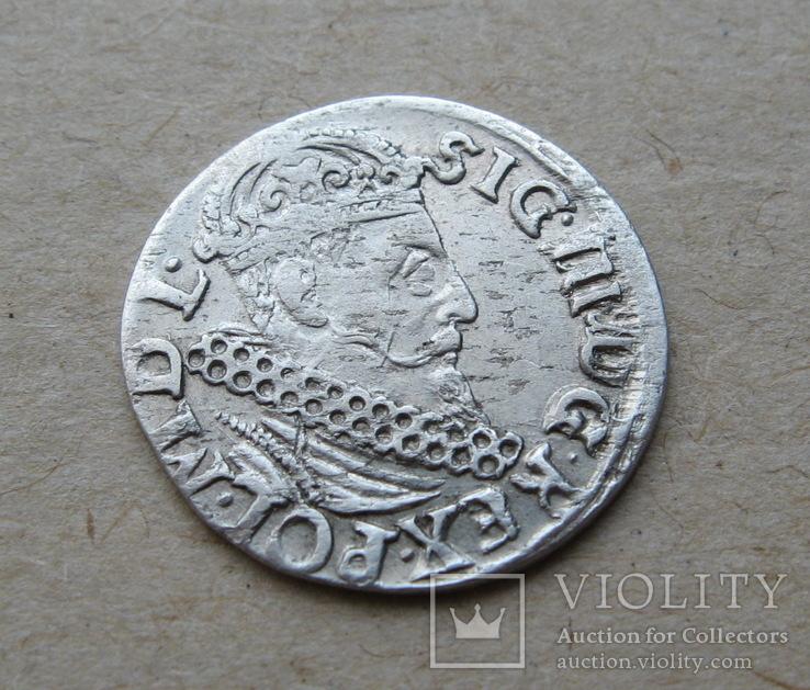Трояк 1621 года. Сиг. ІІІ Ваза.
