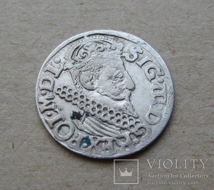 Трояк 1622 года. Сиг. ІІІ Ваза.