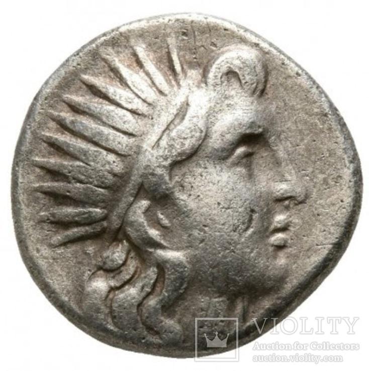 Геліос Родос (190-170 р. до н.е.) гемадрахма срібло