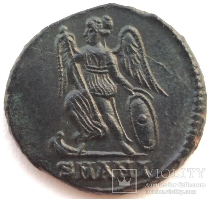 Коммеморативная бронза Константин I мон двор Antioch 330-333 гг н.э. (83_5)