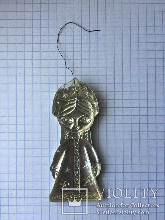 Елочная игрушка из пластмассы 'Снегурочка', фото №3