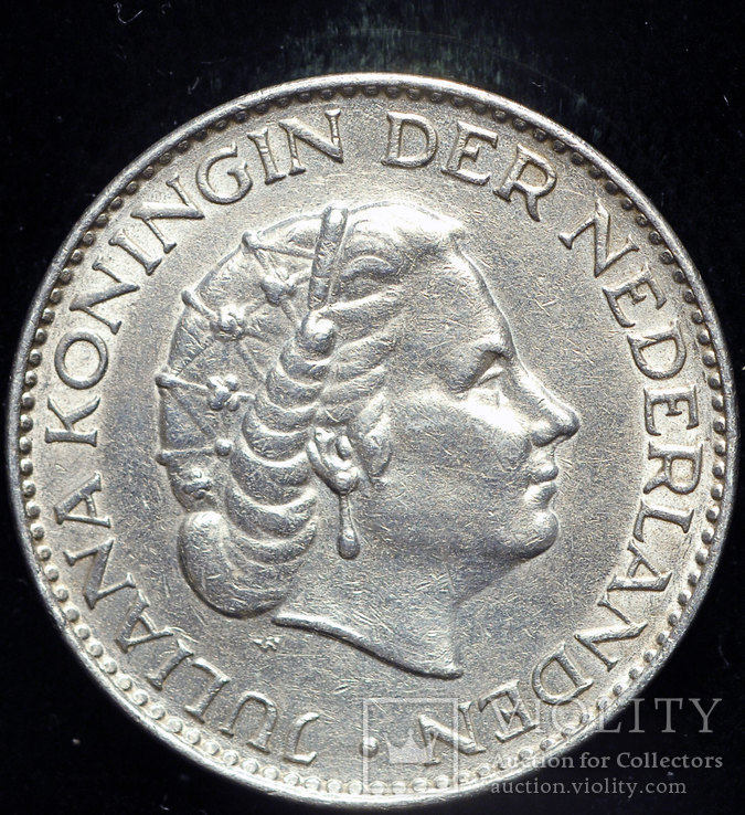 Нидерланды гульден 1958 серебро