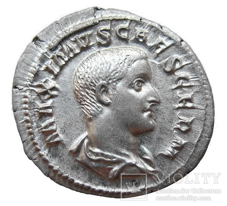 Денарий Максим как цезарь 235-236 г. н.э.